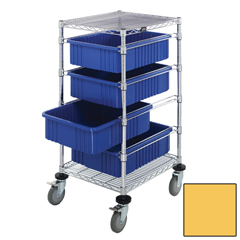 QNTBC212434M1-YL-EA - Quantum Storage SystemsBin Cart with Dividable Grid Containers