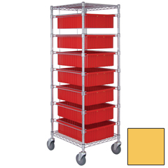 QNTBC212469M2-YL-EA - Quantum Storage SystemsBin Cart with Dividable Grid Containers