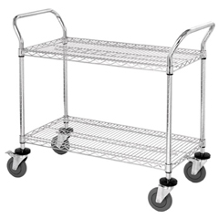 QNTWRC-2448-2-EA - Quantum Storage Systems2 Wire Shelf Mobile Utility Cart