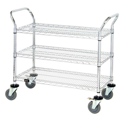 QNTWRC-2442-3-EA - Quantum Storage Systems - 3 Wire Shelf Mobile Utility Cart