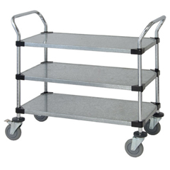 QNTWRC-1836-3G-EA - Quantum Storage Systems - 3 Solid Shelf Mobile Utility Cart