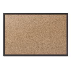 QRT2308B - Quartet® Cork Bulletin Board with Black Frame