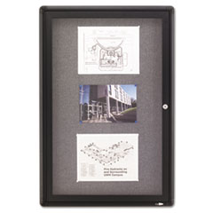 QRT2363L - Quartet® Enclosed Indoor Fabric Bulletin Board with Hinged Doors