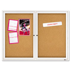 QRT2364 - Quartet® Enclosed Indoor Cork Bulletin Board with Hinged Doors