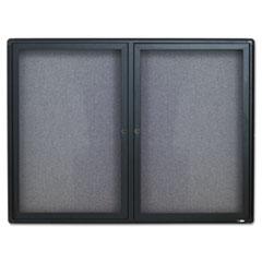 QRT2364L - Quartet® Enclosed Indoor Fabric Bulletin Board with Hinged Doors