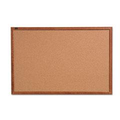 QRT85212 - Quartet® Cork Bulletin Board with Oak Frame