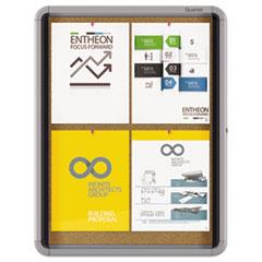 QRTEIHC2721 - Quartet® Enclosed Indoor Cork Bulletin Board with Swing Door