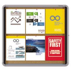 QRTEIHC2730 - Quartet® Enclosed Indoor Cork Bulletin Board with Swing Door