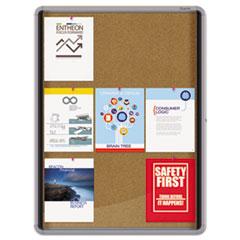 QRTEIHC3930 - Quartet® Enclosed Indoor Cork Bulletin Board with Swing Door