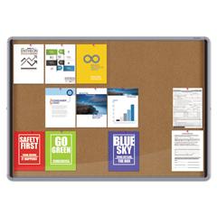 QRTEISC3956 - Quartet® Enclosed Indoor Cork Bulletin Board With Sliding Glass Doors