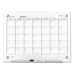 QRTGC2418F - Quartet® Infinity™ Magnetic Glass Calendar Board