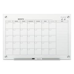QRTGC4836F - Quartet® Infinity™ Magnetic Glass Calendar Board