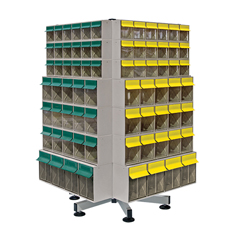 QNTQTB-SPIN148 - Quantum Storage Systems - 4-Color Tip Out Bin Spinner