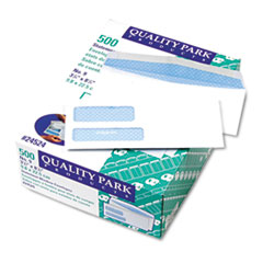 QUA24524 - Quality Park™ Double Window Security Tinted Invoice and Check Envelope