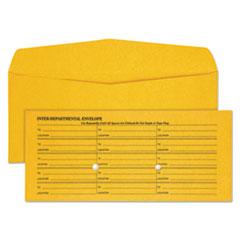 QUA63262 - Quality Park™ Light Brown Fold Flap Kraft Trade Size Interoffice Envelope