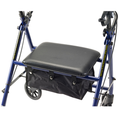 R800BL - Drive Medical - Rollator with 6 Wheels, Blue