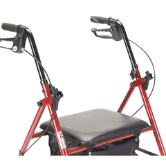 R800RD - Drive Medical - Rollator with 6 Wheels, Red