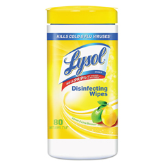 REC77182 - LYSOL® Brand II Disinfecting Wipes -Lemon & Lime Blossom Scent