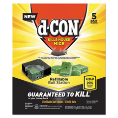RAC98343 - d-CON® Refillable Bait Station & Refills