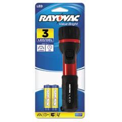 RAY2AALEDB - Rayovac® General Purpose Rubber  Aluminum Flashlight
