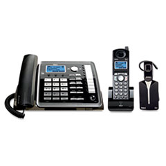RCA25270RE3 - RCA® ViSYS™ 25270RE3 Two-Line Corded/Cordless Phone System with Cordless Headset