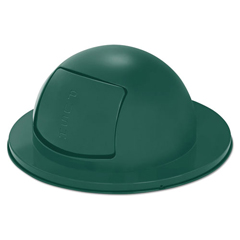 RCP1855GRE - Rubbermaid® Commercial Steel Dome Drum Top