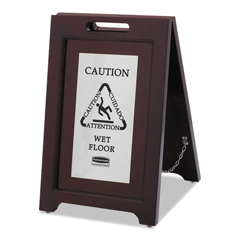 RCP1867508 - Executive 2-Sided Multi-Lingual Wooden Caution Sign