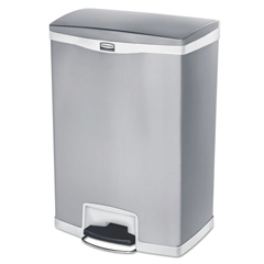 RCP1902004 - Rubbermaid® Commercial Slim Jim® Stainless Steel Step-On Container