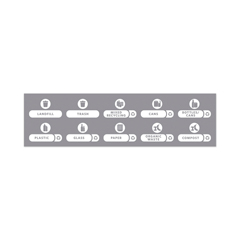 RCP1977787 - Rubbermaid® Commercial Recycle Label Kit