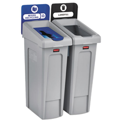 RCP2007914 - Rubbermaid® Commercial Slim Jim Recycling Station Kit