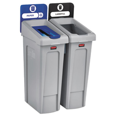 RCP2007915 - Rubbermaid® Commercial Slim Jim Recycling Station Kit