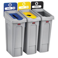 RCP2007917 - Rubbermaid® Commercial Slim Jim Recycling Station Kit