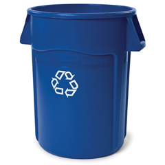 RCP2643-07BLU - Brute® Round Recycling Container with Venting Channels
