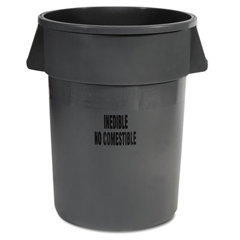 RCP2643-56GRA - Brute® Brute Round Containers