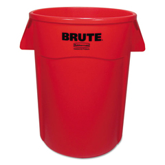 RCP264360REDEA - Rubbermaid® Commercial Vented Round Brute® Container