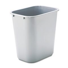 RCP295600GY - Rubbermaid® Commercial Deskside Plastic Wastebasket