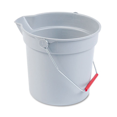 RCP296300GY - Rubbermaid® Commercial BRUTE® 10-Quart Round Utility Pail