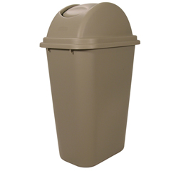 RCP3071-20BEI - Soft Wastebasket Untouchable® Top Combo Pack