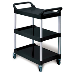 RCP3424-88BLA - Three-Shelf Service Cart