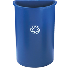 RCP3520-73BLU - Half-Round Recycling Container