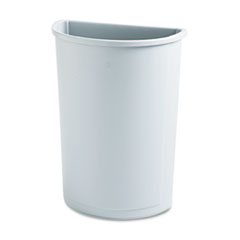 RCP352000GY - Rubbermaid® Commercial Untouchable® Half-Round Plastic Receptacle