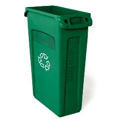 RCP3540-07GRE - Slim Jim® Plastic Recycling Container with Venting Channels