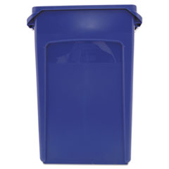 RCP3540-07BLU - Slim Jim® Plastic Recycling Container with Venting Channels