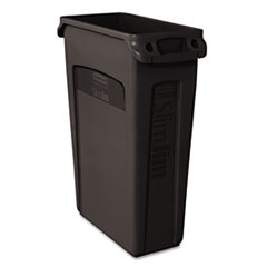 RCP354060BK - Rubbermaid® Commercial Slim Jim® Receptacle w/Venting Channels