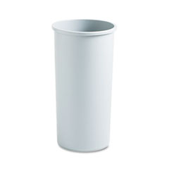 RCP354600GY - Rubbermaid® Commercial Untouchable® Large Plastic Round Waste Receptacle