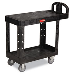 RCP450500BK - Rubbermaid® Commercial Flat Shelf Utility Cart