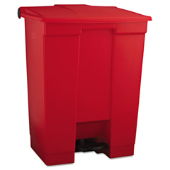 RCP614500RED - Rubbermaid® Commercial Indoor Utility Step-On Waste Container