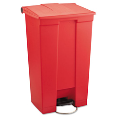 RCP6146RED - Rubbermaid® Commercial Indoor Utility Step-On Waste Container