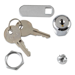 RCP6181L2 - Rubbermaid® Commercial Replacement Lock  Key for Locking Janitor Cart Cabinet