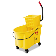 RCP618688YW - Rubbermaid® Commercial WaveBrake® Bucket/Wringer Combos